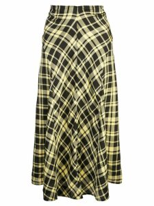 Proenza Schouler ruched seamed skirt - Yellow
