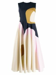 Roksanda Catia abstract panel dress - Neutrals