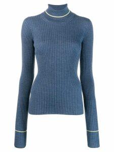 Maison Margiela ribbed knit top - Blue