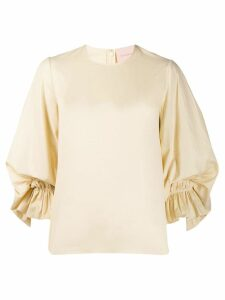Roksanda ruched detail blouse - Yellow