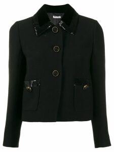 Miu Miu sequin embellished jacket - Black