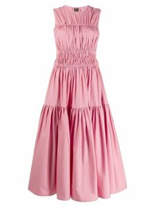 Roksanda ruched poplin dress - Pink