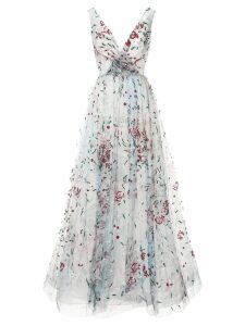 Saiid Kobeisy sequin embroidered tulle dress - Blue