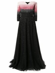 Saiid Kobeisy embellished long tulle dress - Black