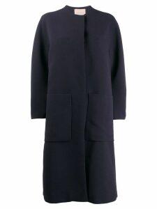 Roksanda concealed front coat - Blue