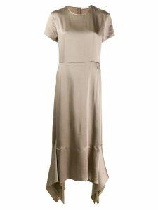 Fabiana Filippi high-low dress - Green