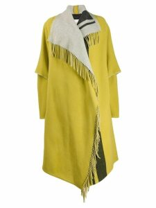 Dorothee Schumacher fringed asymmetric coat - Green