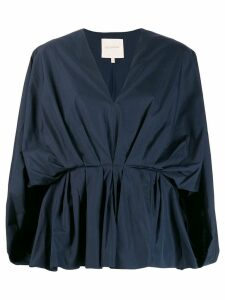 Roksanda billow sleeve plunge top - Blue