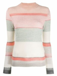 Missoni knitted striped sweater - PINK