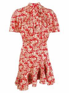 Sandro Paris paisley print short dress - Red