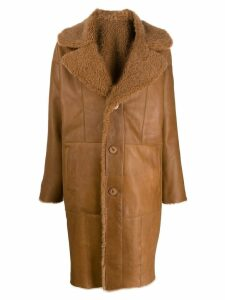 Drome reversible single breasted coat - Brown