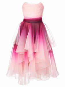 Marchesa ombré print dress - Pink