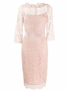Goat Venus lace fitted dress - Pink
