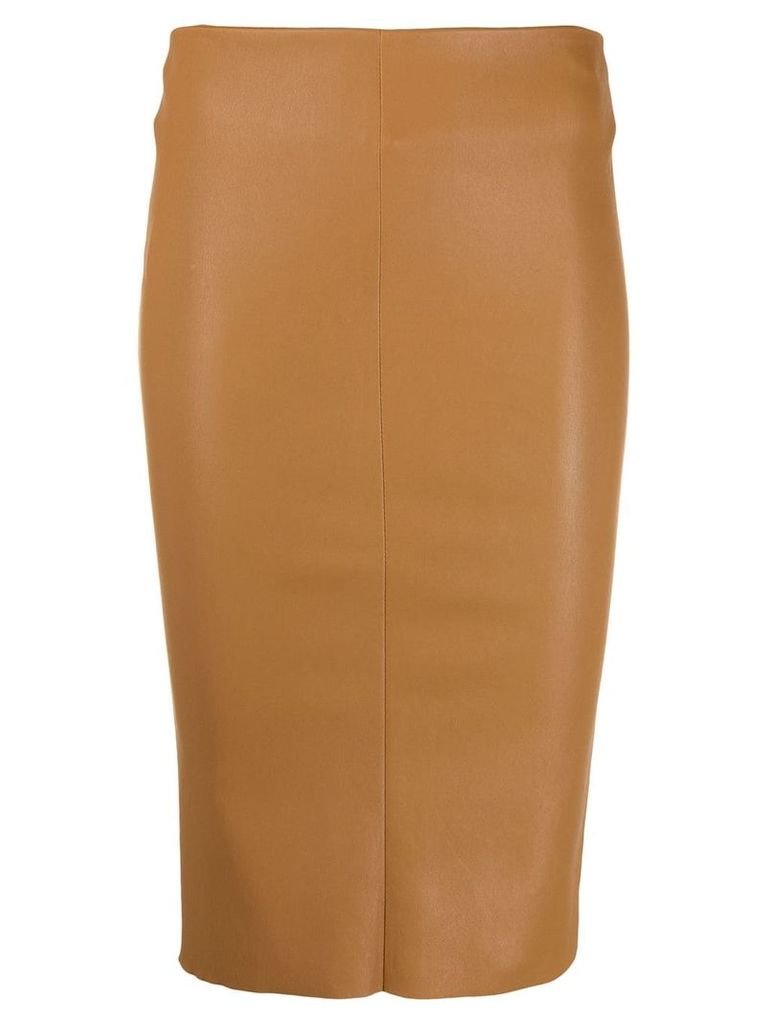 Drome fitted midi skirt - Neutrals