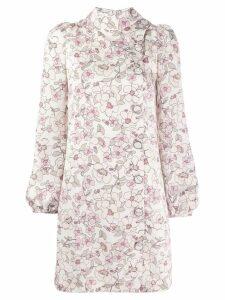 Goat Inca floral shift dress - NEUTRALS