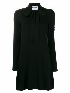 Moschino pussy bow jumper dress - Black