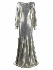 Goat Illusion metallic gown - Silver