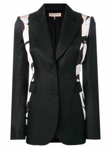 Emilio Pucci Fortuna Print Panelled Blazer - Black