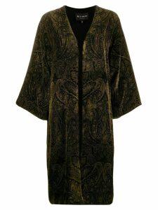 Etro velvet paisley kimono - Black