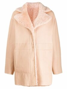 Drome reversible single breasted coat - Pink