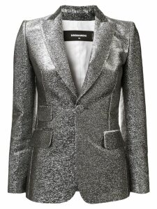Dsquared2 metallic threading fitted blazer