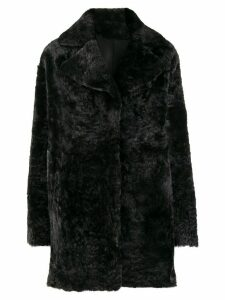 Drome reversible single breasted coat - Black