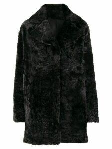 Drome reversible single breasted coat - Black
