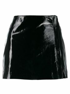 P.A.R.O.S.H. short leather skirt - Black