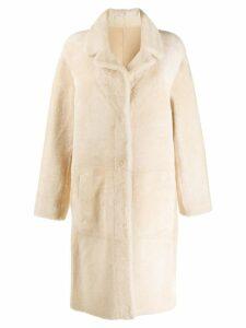 Drome reversible single breasted coat - White