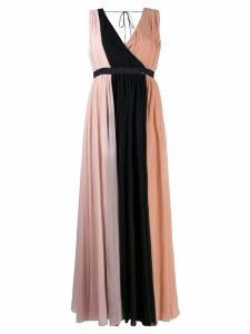 LIU JO gathered colour block gown - Pink