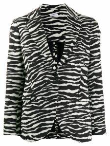 P.A.R.O.S.H. zebra print blazer - Black