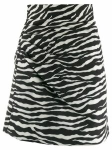 P.A.R.O.S.H. zebra print skirt - Black