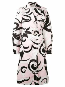 Emilio Pucci Fortuna Print Trench Coat - Pink