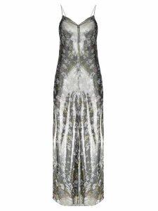 GANNI floral print maxi dress - Grey