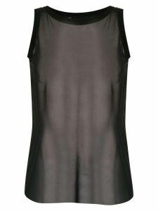 Uma Raquel Davidowicz sheer Amalia blouse - Black