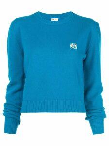 Loewe embroidered logo sweater - Blue