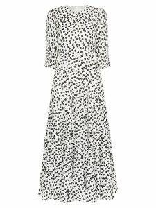 Rixo Agyness tie back dress - 012 Bianco/Nero