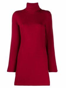 Sara Battaglia turtleneck jumper dress - Red