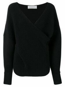 Victoria Victoria Beckham drape front sweater - Blue