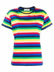 Être Cécile Rainbow stripe T-shirt - Blue