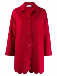 Red Valentino scallop hem coat