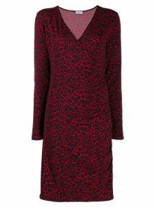 LIU JO leopard print midi dress - Red