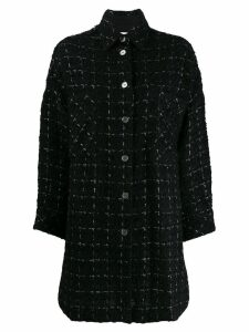 Iro Mainte checked tweed coat - Black