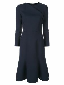Oscar de la Renta flared midi dress - Blue