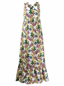 Borgo De Nor Mila floral print maxi dress - White