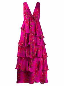 Borgo De Nor Flavia floral ruffled dress - Pink