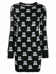 Moschino Teddy Bear sweatshirt dress - Black