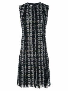 Oscar de la Renta embroidered fringe mini dress - Black