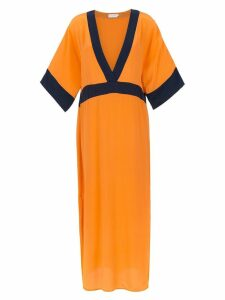 Brigitte silk beach dress - ORANGE