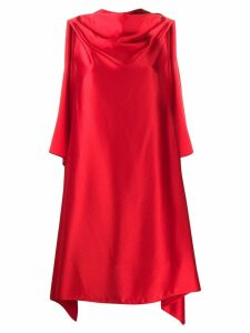 Neil Barrett asymmetric draped dress - Red